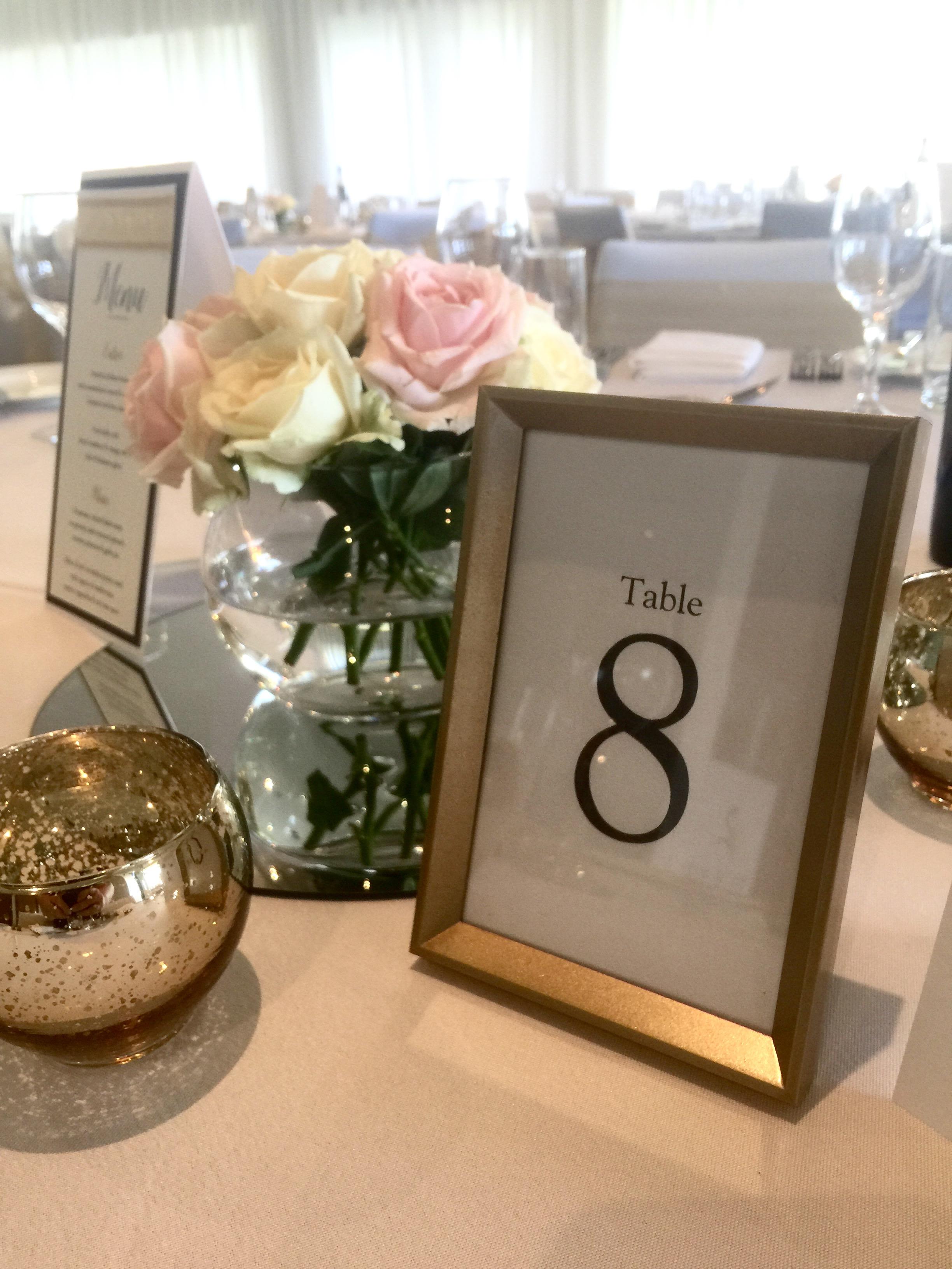 Table Numbers | Cloud Nine Weddings