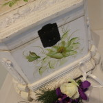 Vintage Cream Floral Wishing Well